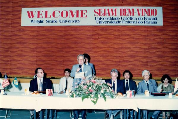 加計勉理事長(当時)主催のウェルカムランチョンパーティー(1986年)